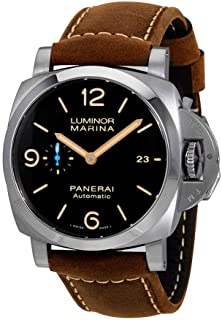 Luminor Marina 1950 Brown Dial Automatic Mens Brown Leather Watch PAM01351