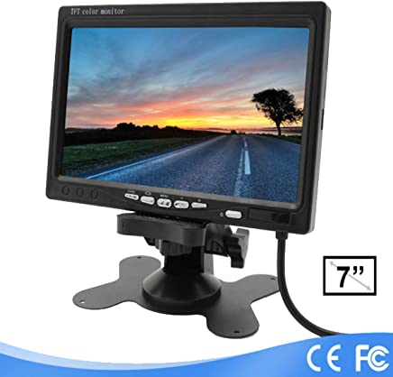 WEIWEITOE-FR 7 TFT LCD Color HD Screen Monitor for Car CCTV Reverse Rear View Backup Camera