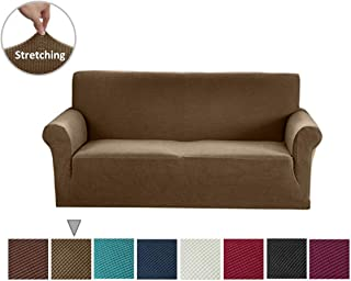 Argstar Loveseat Covers, Jacquard Washable Couch and Love Seat SlipCovers, Furniture Protector for Sofa and Couches, Coffee