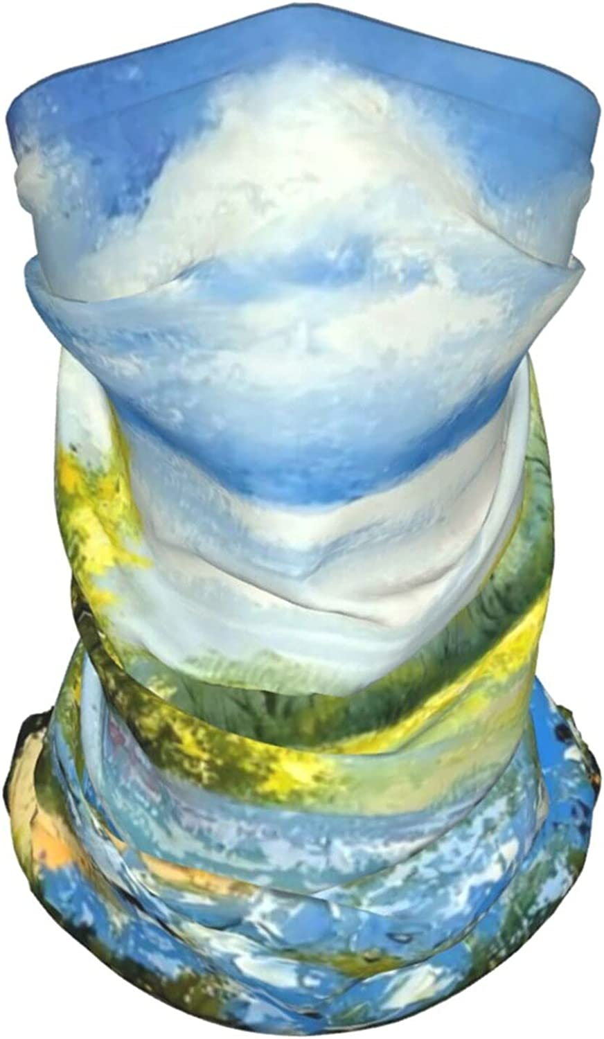 Sea of Flowers Neck Gaiter Multipurpose Headwear Ice Silk Mask Scarf Summer Cool Breathable Outdoor Sport 4 Pcs