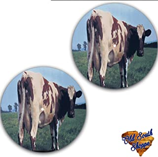 Set of Two Pink Floyd Atom Heart Mother #1 Slipmat 12 inch LP Scratch Pad Slip Mat Audiophile Vinyl Lovers