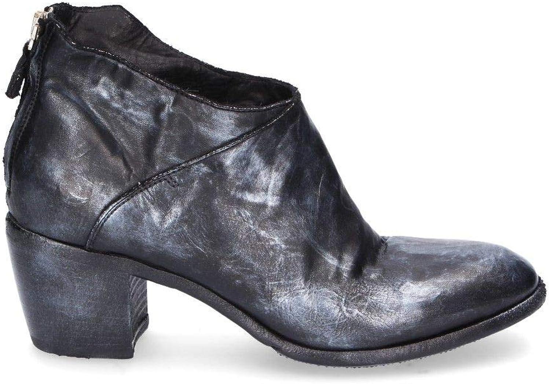 LEMARGO Damen AH01Aschwarz Schwarz Leder Stiefeletten