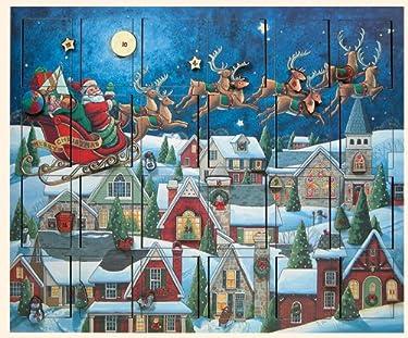 Byers' Choice Santas Sleigh Advent Calendar #AC07 from The Advent Calendars Collection
