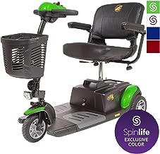 BUZZAROUND EX 3-Wheel Heavy Duty Long Range Travel Scooter, Green, 20-Inch Seat