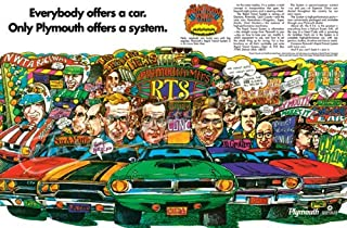 "1970 Plymouth Rapid Transit Ad Digitized & Re-mastered Car Poster Print ""Only Plymouth Offers a System"" 24""x32"""