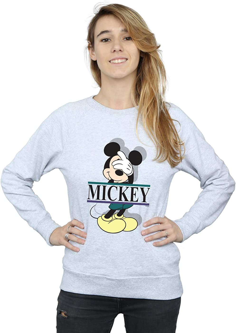 Disney Women's Mickey Letters Mouse Some reservation Sweatshirt Limited price sale