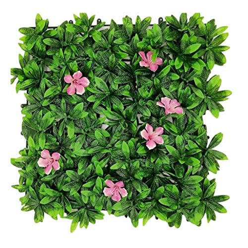 PING- 50x50cm Artificial Hedge Panels, Manicured Artificial Osmanthus Lawn Outdoor Privacy Fenced Garden Fence Decoration, 5 Specifications (Color : 1pack)