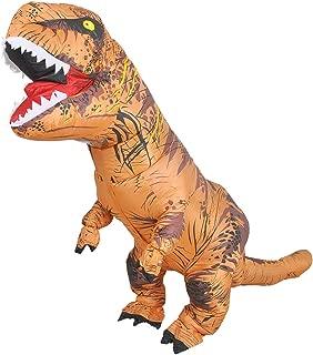 JASHKE Aufblasbarer T-Rex Dinosaurier Kostüm für Erwachsene Dress up Cosplay Kostüm Anzug Party Geschenk