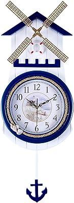Mediterranean Archaize Rudder Wall Clock Mute Living Room Clock European-Style Swing Clock Creative Rural