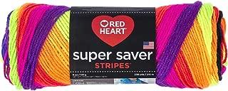 RED HEART E300.4970 Super Saver Yarn, 5 Ounces, Bright Stripe