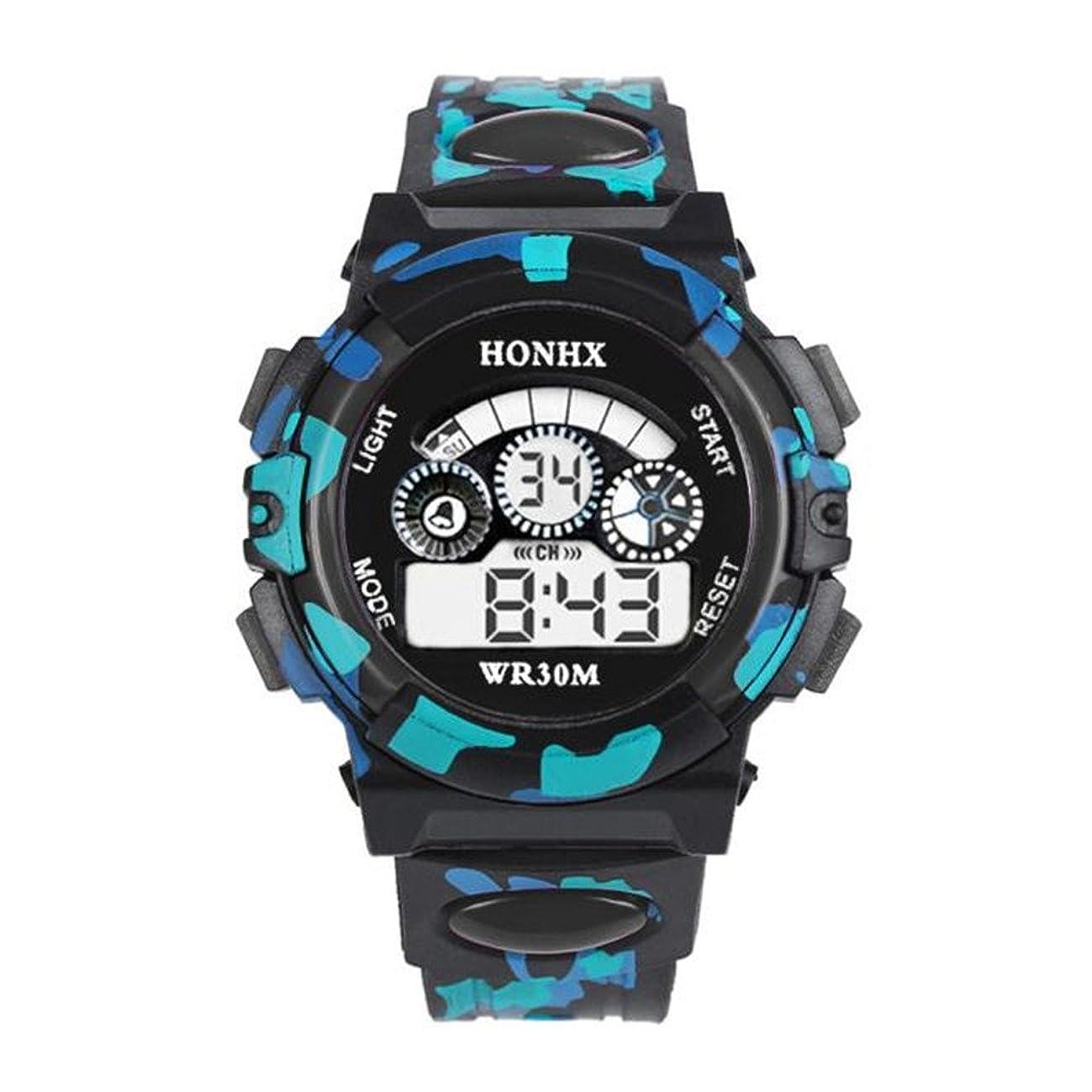 勝者盗賊寂しい男の子女の子デジタル腕時計、hosamtel子電子LEDシリコンスポーツウォッチfor Boys and Girls g27 43.49mm ブラック