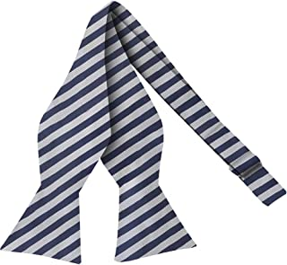 Bow Ties For Men - Mens Woven Self Tie Bowties For Men Bowtie Stripes Tuxedo & Wedding Striped and Solids Bow Tie