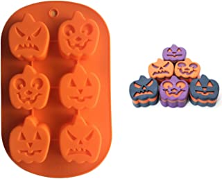 FantasyDay Halloween Pumpkin Chocolate Wafer Mold Silicone Molds for Halloween Chocolate, Muffin Cups, Ice Cube, Soap, Wafer, Cake, Bread, Tart, Pie, Flan, Pudding, Candy, Jello Shot and More #2