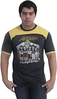 Men's Anthrax State of Euphoria Tour 1988 Ringer T-Shirt Jersey New