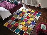 Flair Rugs Spectrum - Alfombra/Tapete con diseño Moderno y Abstracto - Multicolor...