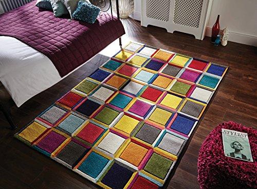 Flair Rugs Spectrum - Alfombra/Tapete con diseño Moderno y Abstracto - Multicolor Waltz 120 x 170cm