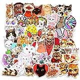 Zonon 130 Pegatinas de Gato Etiquetas Adhesivas Impermeables Temáticas de Gato Calcomanías en Forma Gato para Álbumes de Recortes Diarios Ventanas Equipaje Botellas