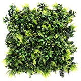 UNICESPED Jardín Vertical Artificial Exterior e Interior Greenery Decoración Pared Plantas y Flores 100x100 centimetros
