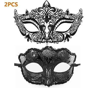 Veneziano Stile Metallo Nero MASCHERA Farfalla Filigrana Masquerade Prom Ball maschera.