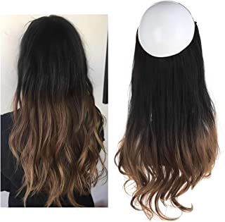 Ombre Hair Extension Black Brown Bayalage Long 18