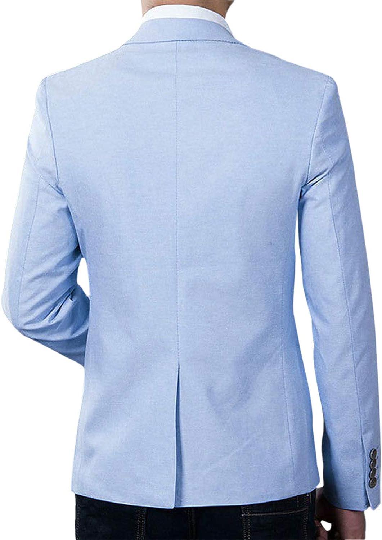 Previn Men's One Button Suit Blazer Slim Fit Solid Lightweight Jacket Casual Sport Coat