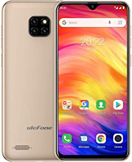 LIJINGFANG Note 7, 1GB+16GB, Triple Back Cameras, Face ID Identification, 6.1 inch Android 8.1 GO MTK6580A Quad-core 32-bit up to 1.3GHz, Network: 3G, Dual SIM(Black) (Color : Gold)