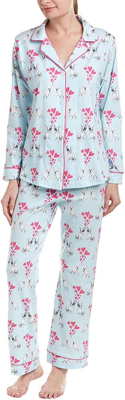 BedHead Women's Long Sleeve Classic Knit TwoPiece Pajama Set