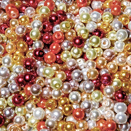 TOAOB 1000 Unidades 4 mm Cuentas de Vidrio Perlas de Imitación Redondas Surtidas Multicolores Abalorios de Cristal para Bisuteria Fabricación de Joyas Pulsera Collar