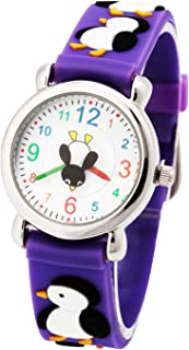 Tonnier 3D Kids Watches Healthy Material Rubber Band Children Watches