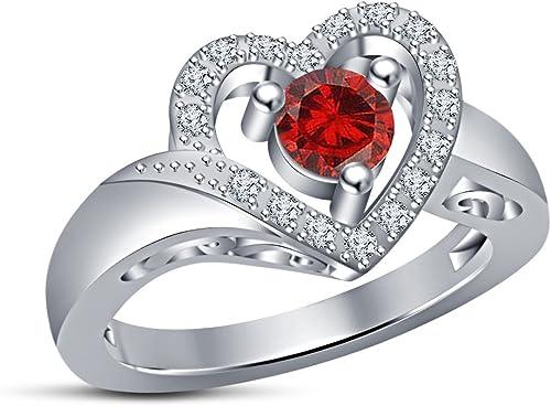 Vorra Fashion Luxus Herz Form Versprechen Engagement Ring, Schmuck für mädchen Geschenk