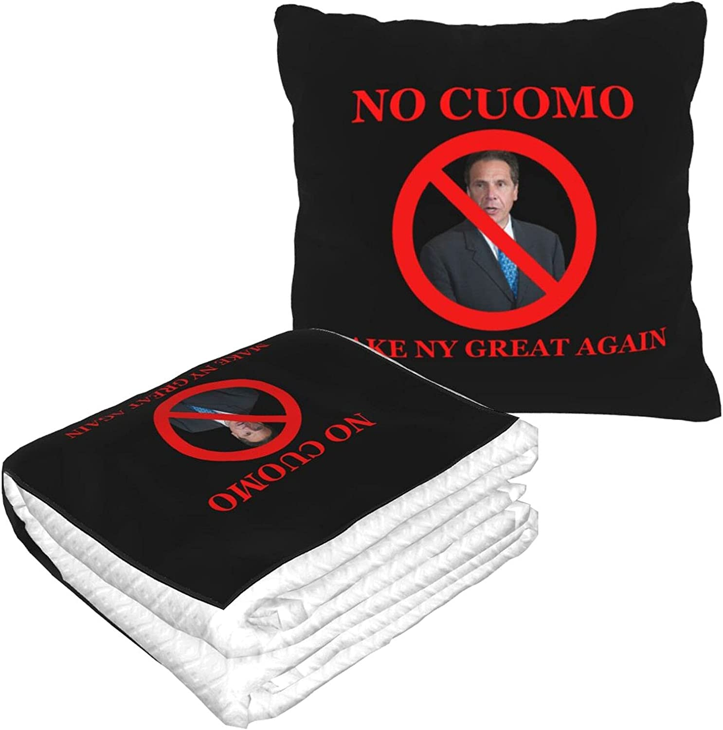Foldable Pillow Blanket No Cuomo Make Travel NY Our shop most Bombing free shipping popular Again Great for