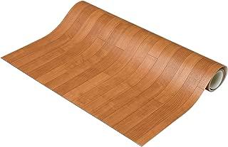 NBL 床保護マット 木目 ブラウン 約90×200cm 滑り止め付