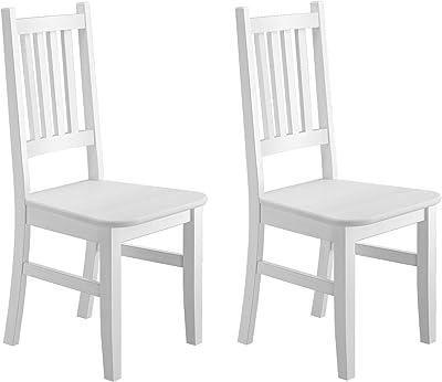 Weißer Küchenstuhl Massivholzstuhl Esszimmerstuhl Stuhl Eris