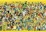 VGFTP Rompecabezas de Madera de 1000 Piezas, Rompecabezas de Dibujos Animados, Rompecabezas Casual Muy desafiante para Adultos y Adolescentes - Anime Simpson