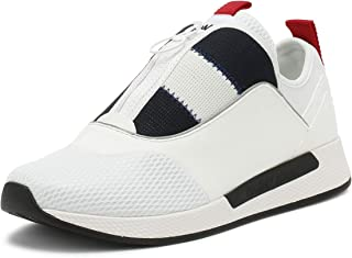 Tommy Hilfiger Mens White Icon Sport Flexi Trainers-UK 7, Multi Color, Size 41 EU