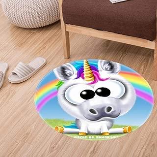 2 Pack Round Bathroom Rugs, Feet Non-Slip Microfiber Soft Absorbent Kitchen Floor Bath Mat Carpet Baby Bath mats (60cm)-Samuel L Jackson