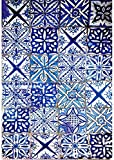 Cadence Papel de Arroz Decoupage Azulejos Azules, 30x40cm