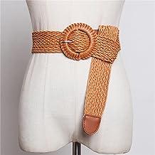 SSMDYLYM Vlecht vrouwen riem etnische stijl dames riem voor jurk lente zomer wax touw vrouwelijke riem 113cm (Color : A, S...
