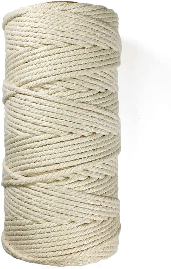 eJoyce Macrame Cord Natural Cheap super special price Soft 4-Strand Sales for Rope Cotton W