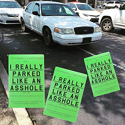 A Hole Parking Stickers (10 Pack) Park Violation Eggshell - Hard to Remove Photo #5