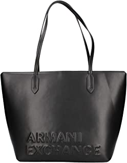 Armani Exchange Tote Bag for Women- Black