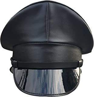 CHECKIN Thailand Military Officer Cap PU Leather Police Hat Performance Stage Show Night Bar Hat