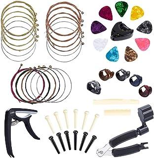 Aboodah Kit de accesorios de guitarra Juego de cambio de herramientas de guitarra Cambio