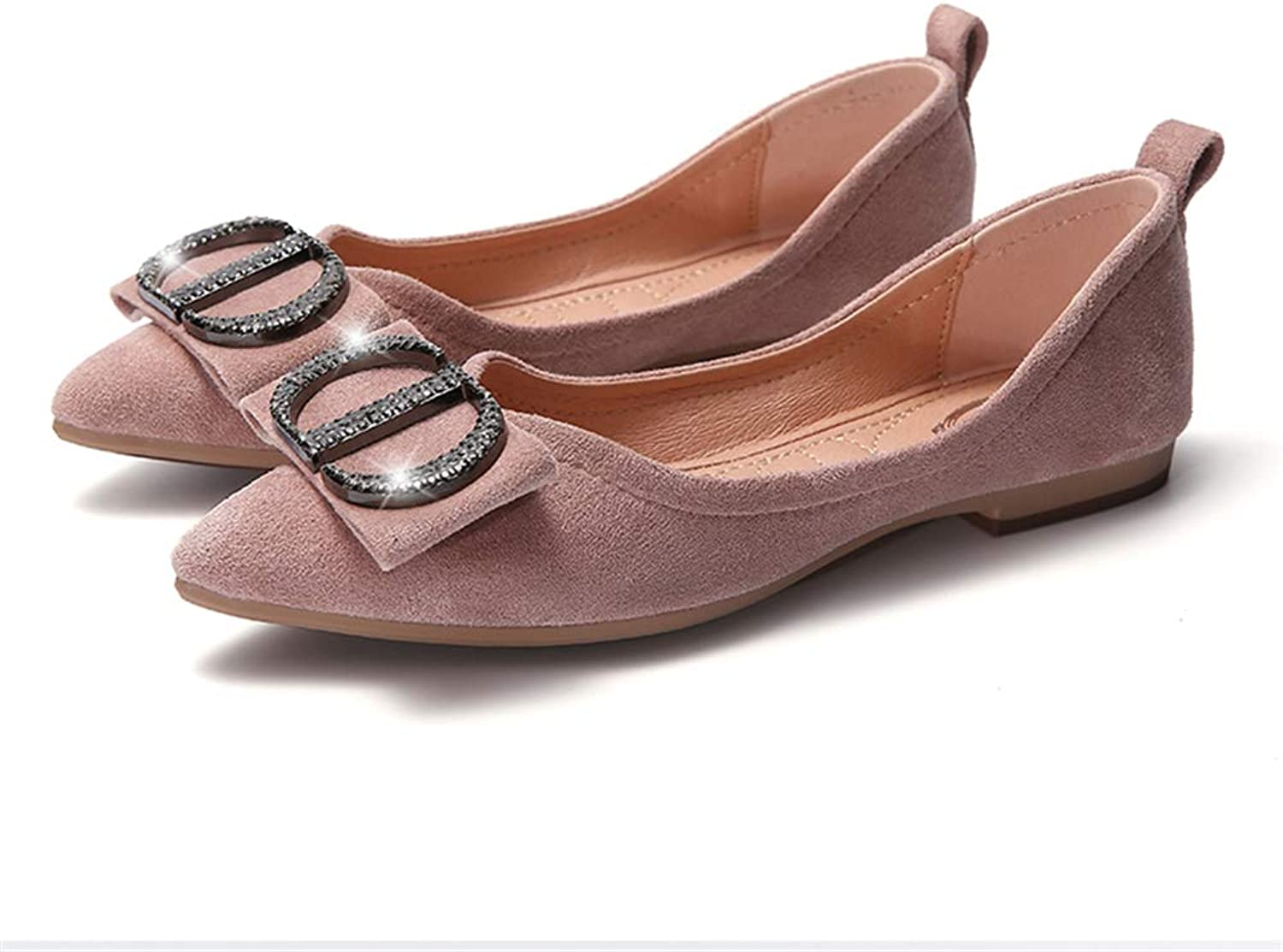 CHENSF Women's Foldable Soft Pointed Ballet Flat shoes Comfortable Non-Slip Flat shoes