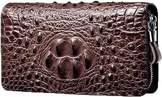 Hand Holding Men's Wallet, Youth Handbags Crocodile Men's Wallet Long Zipper Wallet Business Clutch
