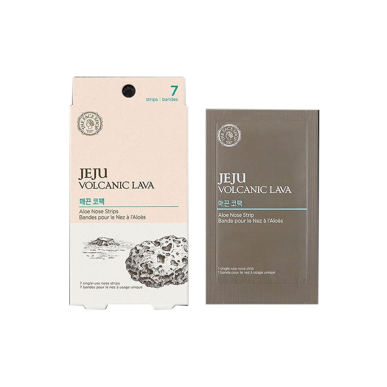 裁量焼くオフセット[ザ?フェイスショップ] The Face Shop 済州火山土アロエ鼻パックパッケージ(7枚) The Face Shop Jeju Volcanic Lava Aloe Nose Strips(7 Strips) / Soft type nose pack [海外直送品]