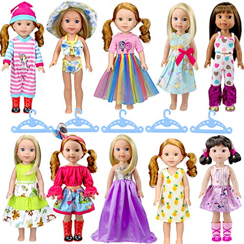 WONDOLL 10-Sets Doll-Clothes for...
