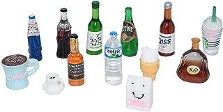 AMOBESTER Miniature Food Drink Bottles Dollhouse Decoration Kitchen Accessories