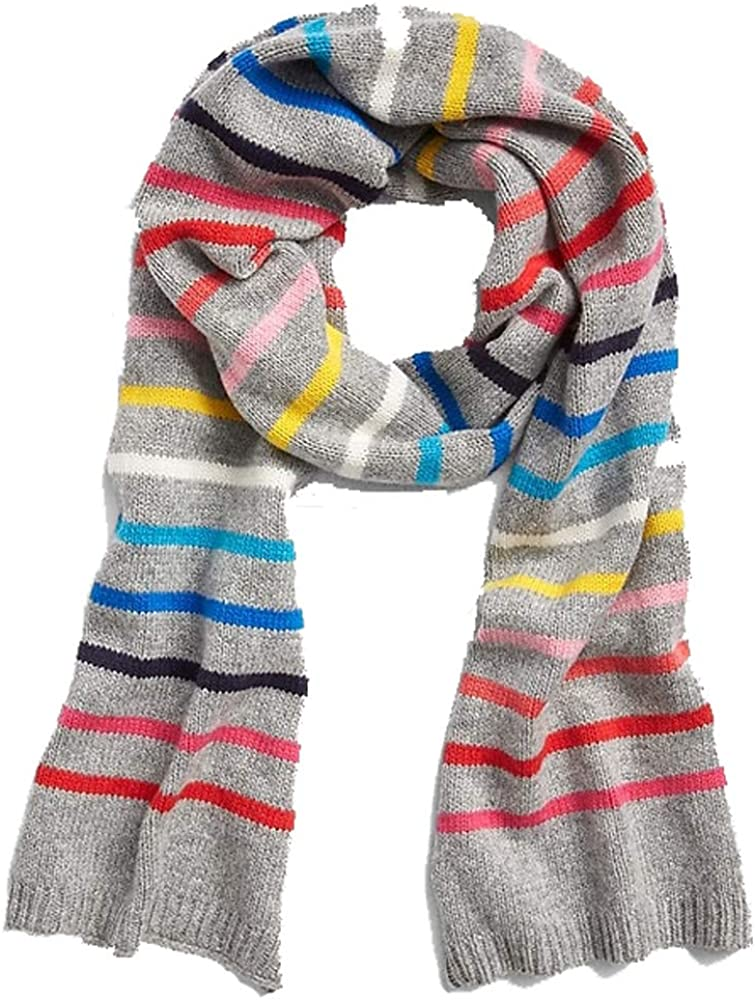Gap All items free shipping Luxury goods NWT Gray Crazy Wool Blend Scarf Stripe