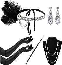 Nero 20s KIT Flapper Charleston Gatsby Gangster Costume Accessorio Parrucca Inc.